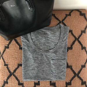Calvin Klein classic grey crew neck basic t-shirt
